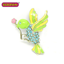 Beautiful Brooch Jewelry Fashion Cartoon Enamel Bird Brooches for Women