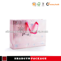 customize design cheap small paper gift bags with handles