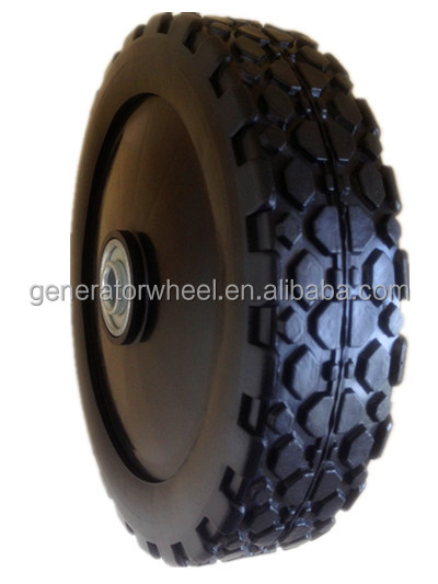 7 inch plastic wheel and tire with bearing for garbage bin, hand trolley