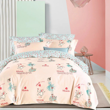 Wholesale bedding sets queen comforter 100% cotton linen used printed high quality bed sheet in faisalabad
