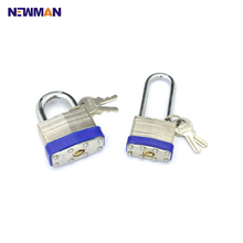 Factory Price Cheap Laminated Shiny Color Padlock Master Key Locks