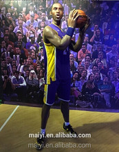 Hot Sale Kobe Bryant Celebrity Design Silicone Wax Figures for Museum