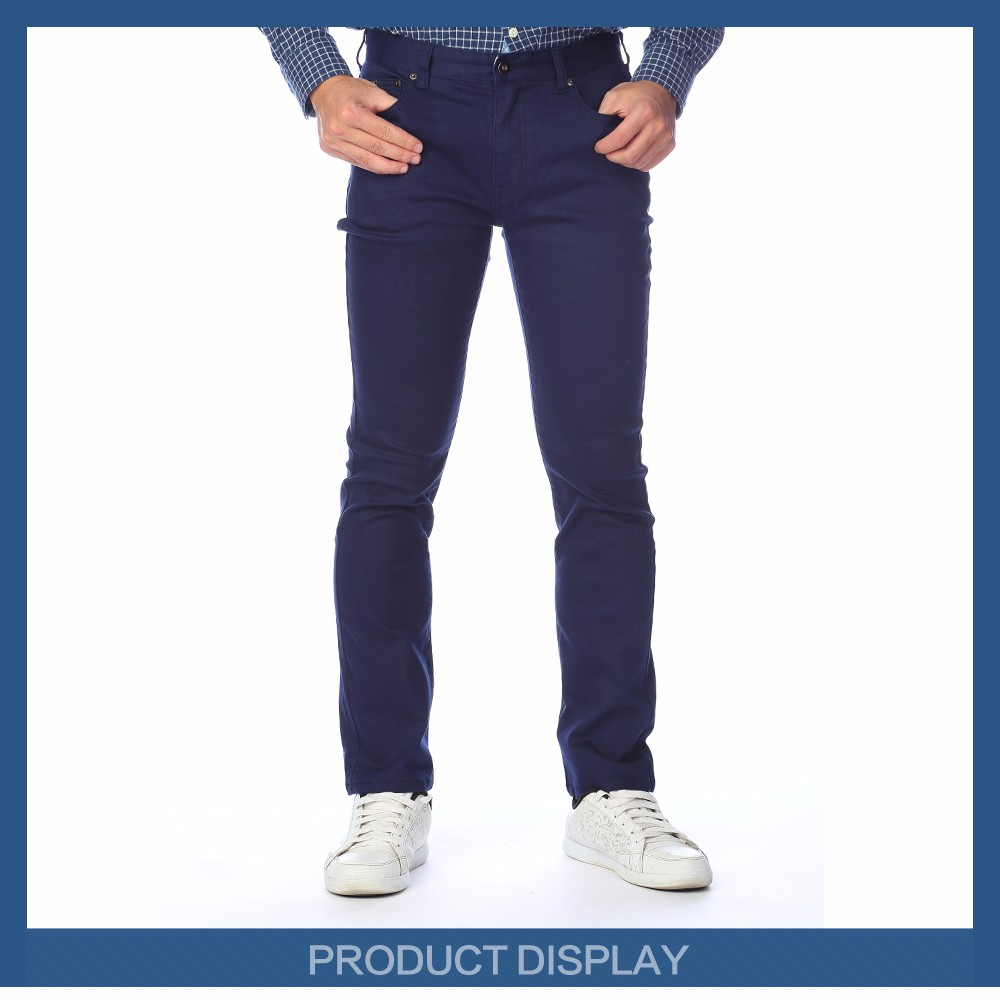 2016 Men trousers blue denim clothing demin jeans