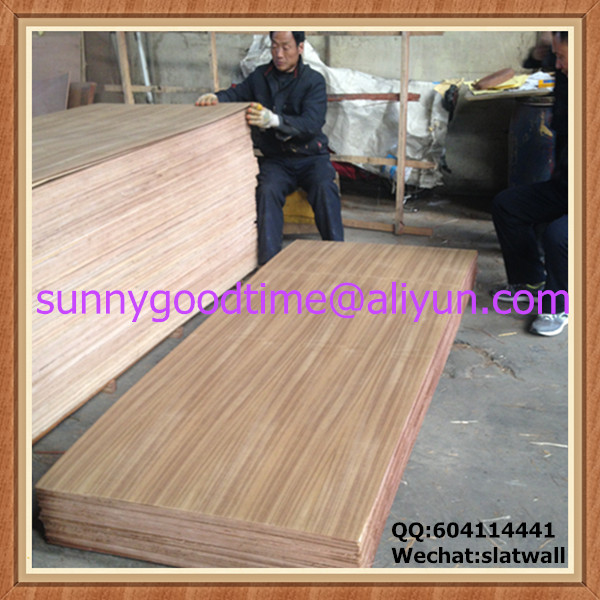 Melamine glue gurjan core 4mm teak veneer plywood