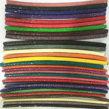 Different Sizes of Thailand Galuchat round stingray leather cord for sale