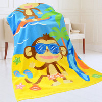 100% Cotton Velour Custom Made Animal Print Cotton Bath Towel