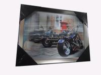 custom UV printed 3D wall painting PP lenticular painting