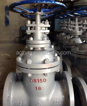 stainless steel/carbon steel flange end non-rising stem gate valve