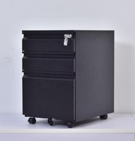 Office equipment structure metal steel mobile 3 drawer file cabinet