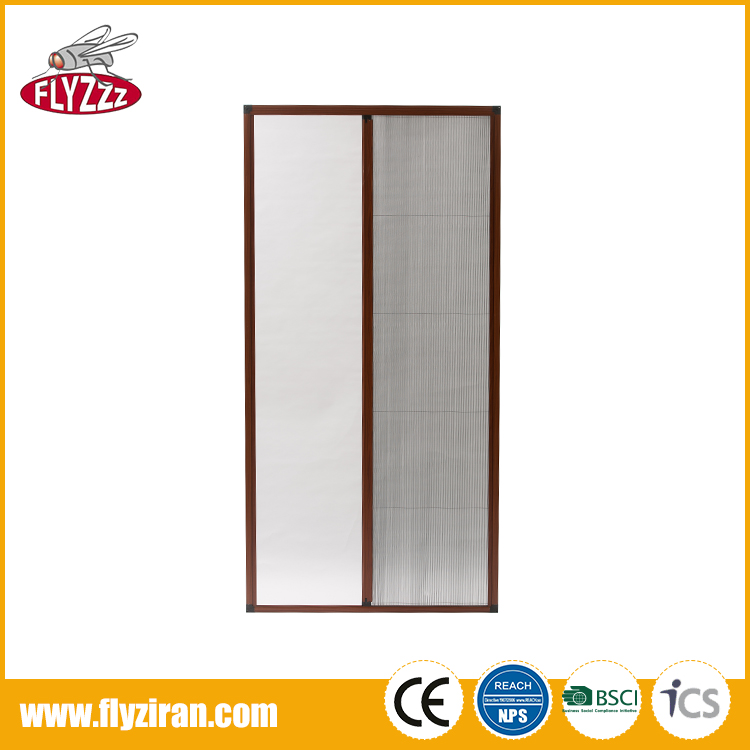 Custom size design easy install anti flyscreen folding mosquito screen door