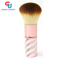 Synthetic Blush and Bronzer Brush Angled Kabuki Makeup Brush for Face Contouring and Highlighting with Creams and Powders