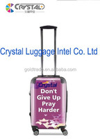 2015 Transparent Shell PC Luggage with High Quality and Personlize Suitcase