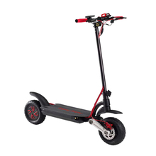 2018 new product 2 wheel 1000w dual motor quick foldable kick scooter with one side suspension