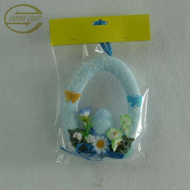 Easter foam eggs wreath decoration