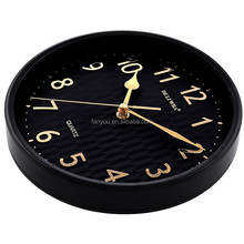 12 inches 30 cm hot selling cheapest large wall clock modren plastic round wall clock different shape