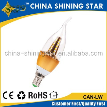 Excellent Quality High Intensity Ce Rohs Certified Candle Light Bulbs 5w