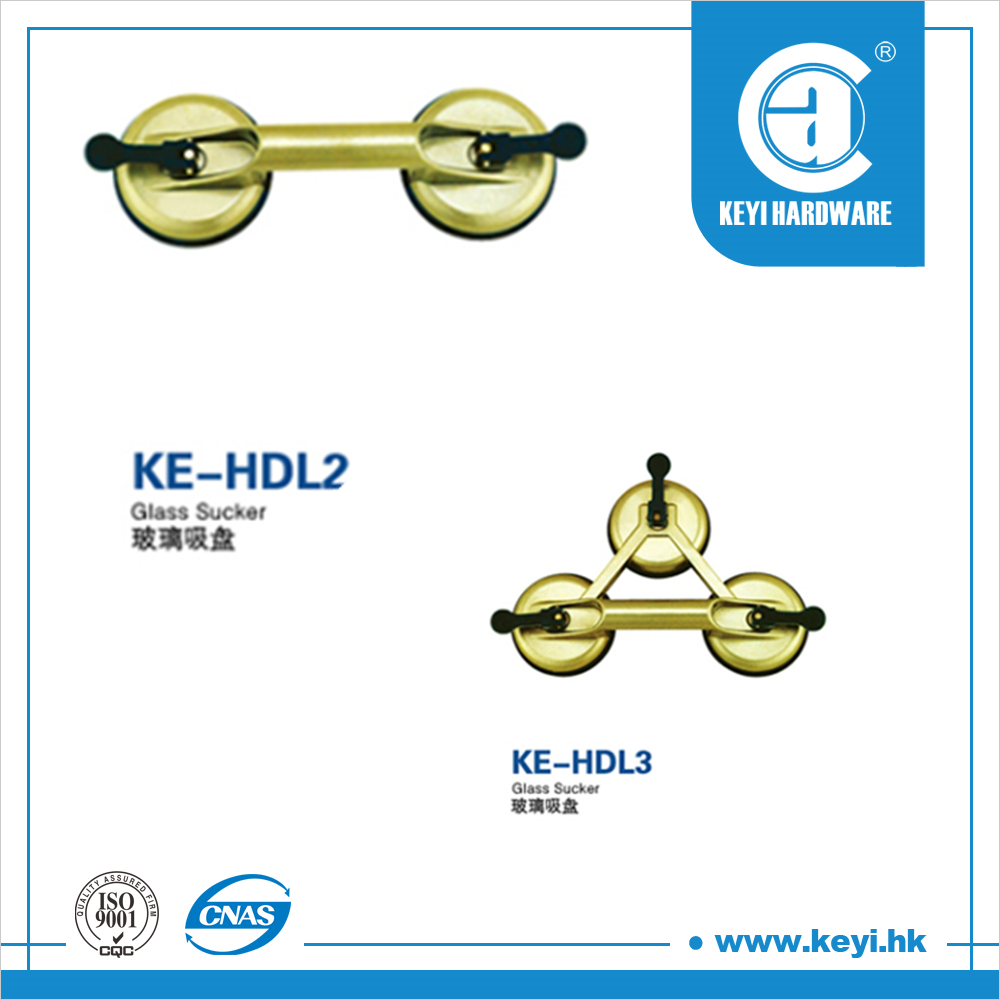 KE-HDL2 Good force two-plate vacuum glass sucker suction for glass /patch fitting /shower