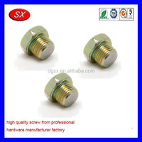 custom Heater Water Outlet Plug male thread Screw Plug