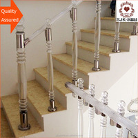 decorative glass columns, acrylic plexiglass railing