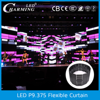 p10 indoor transparent led curtain display stage background