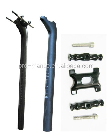 with Length 400mm and Weight 200g 31.6mm/27.2mm Carbon Bicycle Seatpost