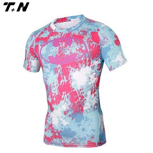 Promotional sublimation custom printed compression shirts