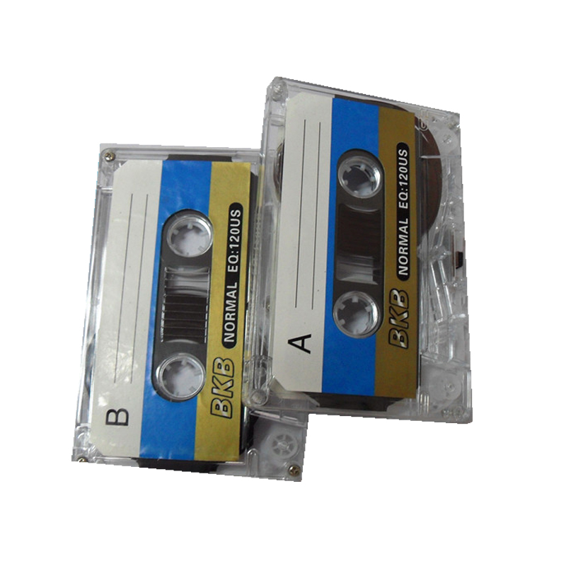 Custom Logo Transparent Blank Music Teaching Disk Audio cassette tape