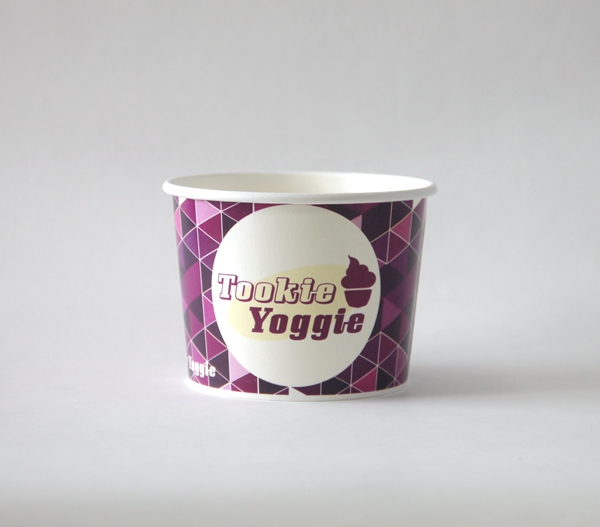 Customized 16oz disposable paper cup for ice cream