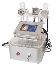 Facial ultrasound rf cavitation machinery with vacuum & bio handle