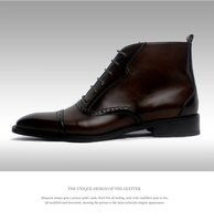 Goodyear technique calfskin leather Men's shoes Tailor Made shoes Goodyear technique calfskin leather Men's shoes durability and