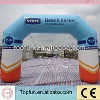 Cheap inflatable finish line arch /advertising inflatable arch