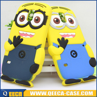 Cheap price 3D cute silicone minion case cover for samsung galaxy s5 i9600