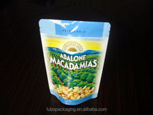 Plastic stand up pouch for macadamias