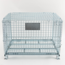 Industrial high quality metal steel heavy duty foldable wire mesh pallet cage