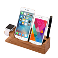 High Quality Universal 3 in 1 Unique Design Bamboo Stand Holder for iPhone