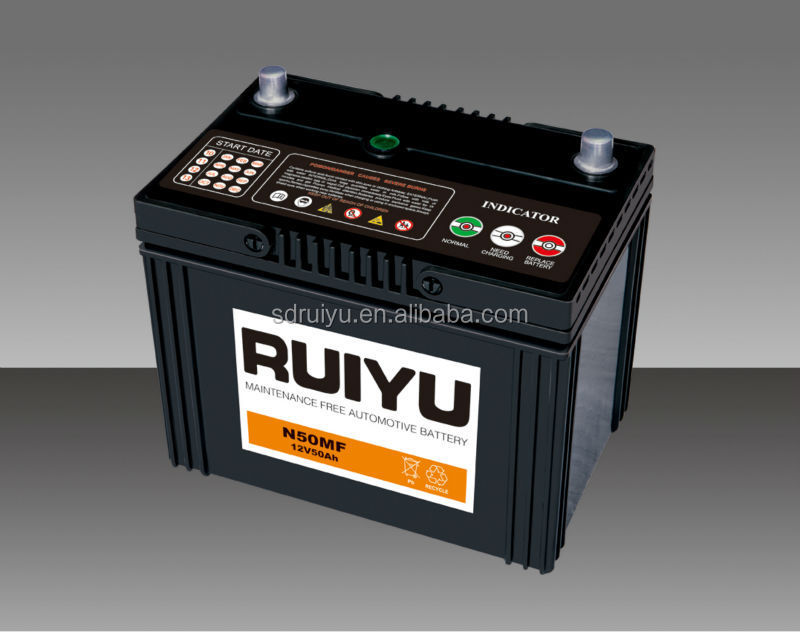 55B24LS 12V JIS Standard maintenance free battery