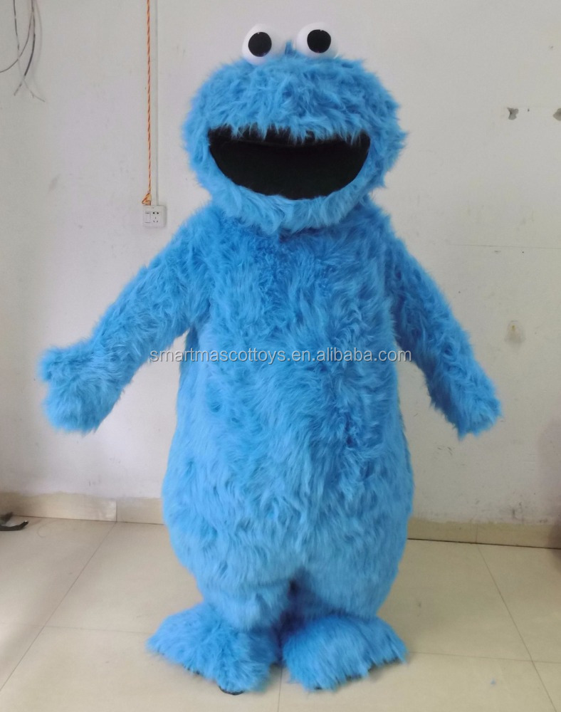 cartoon mascot costume blue adult cookie monster costume