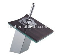 Single Handle Chrome Plated Pillar Waterfall Glass Faucet M8023 ( Glass Square Mixer / Glass Tap )