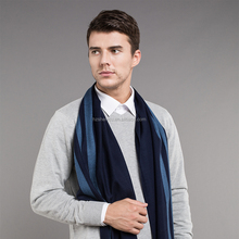 Hot-selling Winter Warm Wool Cashmere Fleece Stripe Men Scarf Shawl wraps