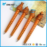 Hot selling customized cute cartoon character ball pen for children gift