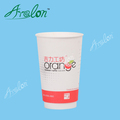 Recycled salad PLA coated paper cup