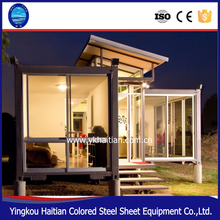 2016 new prefab house container light steel vila container hotel room / modular house