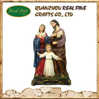 Wholesale religious polyresin holy family statues