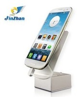 security cellphone stand with charger, anti-theft display holder for android phone