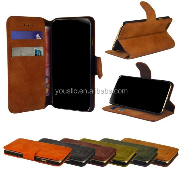 Suede Flip Leather Case,Book Leather Case For Samaung Galaxy S4 mini i9190