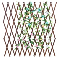 SenGong Wood Lattice Garden Trellis, Pull Net ,Plant Display Screen
