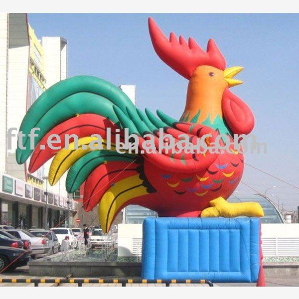 Inflatable rooster