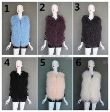 Hot Sale Real Mongolian Sheep Fur Vest with Cheap Manufacture Price