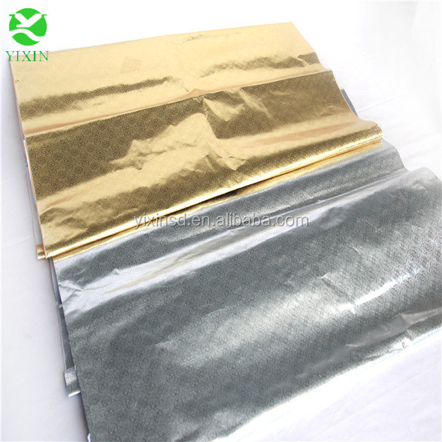 Embossed silver /golden aluminium-foil cake tray paper