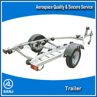 SANJ aluminum boat trailer with High Quality and Low price for sale
